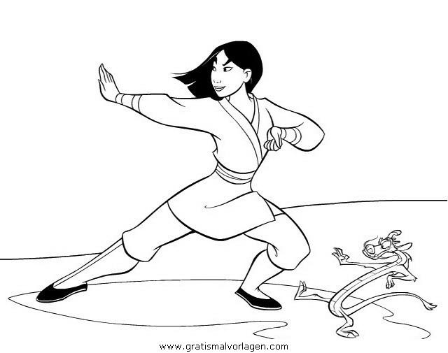 mulan 14 gratis malvorlage in comic  trickfilmfiguren