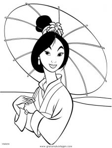 Mulan 15 Gratis Malvorlage In Comic Trickfilmfiguren Mulan Ausmalen