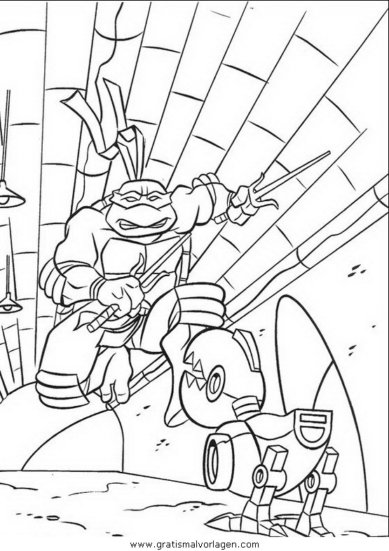ninja turtles12 gratis malvorlage in comic