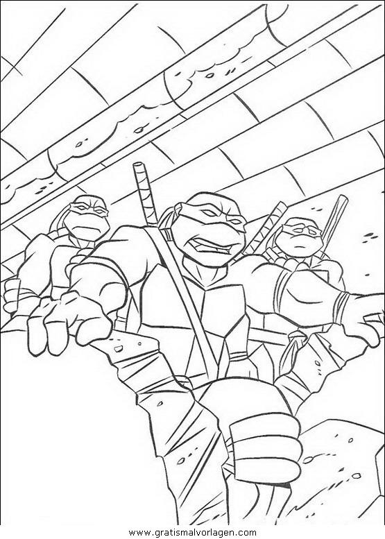 ninja turtles34 gratis malvorlage in comic