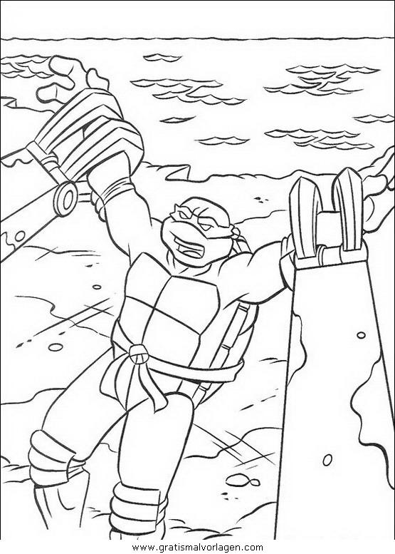 ninja turtles40 gratis malvorlage in comic