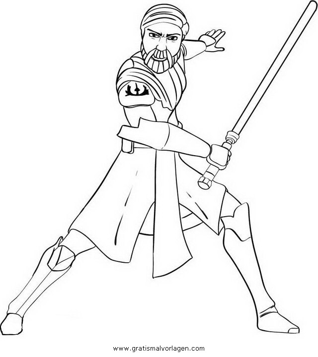 Obi Wan Kenobi 01 Gratis Malvorlage In Science Fiction