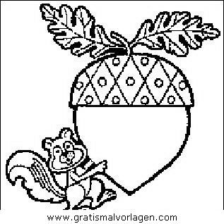 eichhörnchen mit nuss gratis malvorlage in diverse malvorlagen, gegenstände - ausmalen