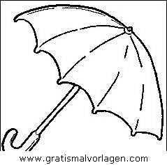Regenschirm 2 Gratis Malvorlage In Diverse Malvorlagen Gegenstände