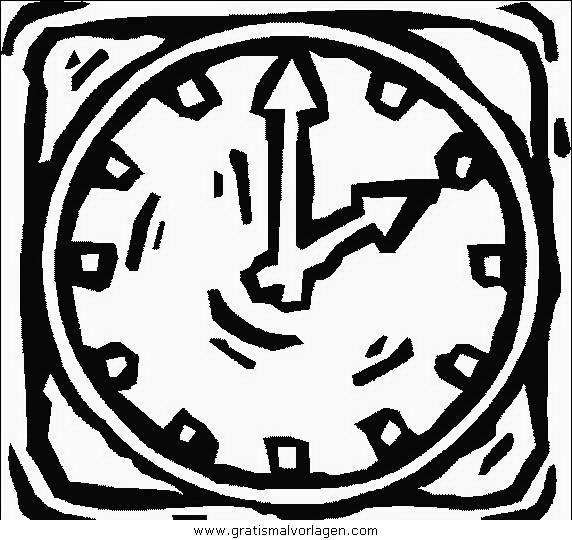 orologio 05 gratis malvorlage in diverse malvorlagen