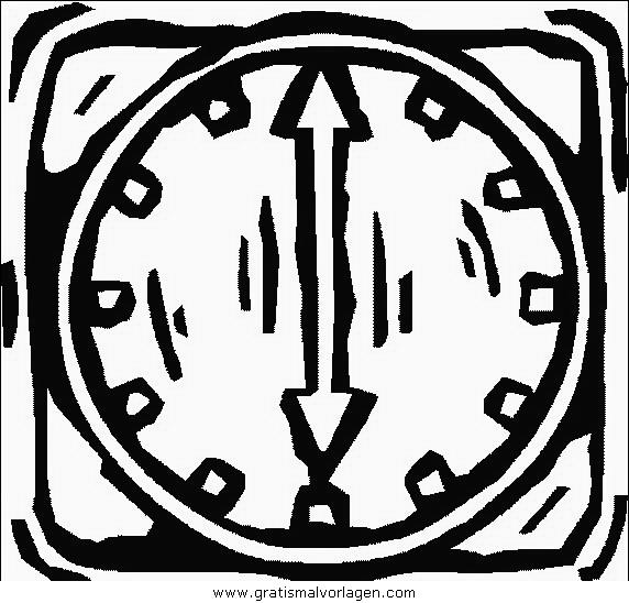 orologio 09 gratis malvorlage in diverse malvorlagen