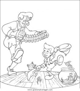 Malvorlage Pinocchio pinocchio 19
