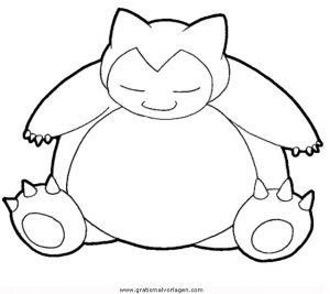 Pokemon Relaxo Gratis Malvorlage In Comic Trickfilmfiguren