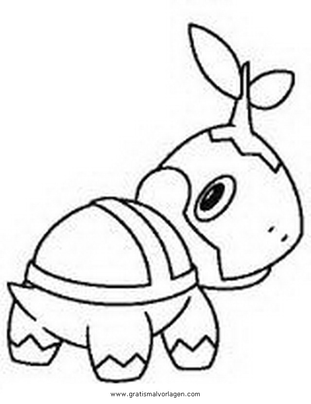 Pokemon Turtwig Chelast 3 Gratis Malvorlage In Comic