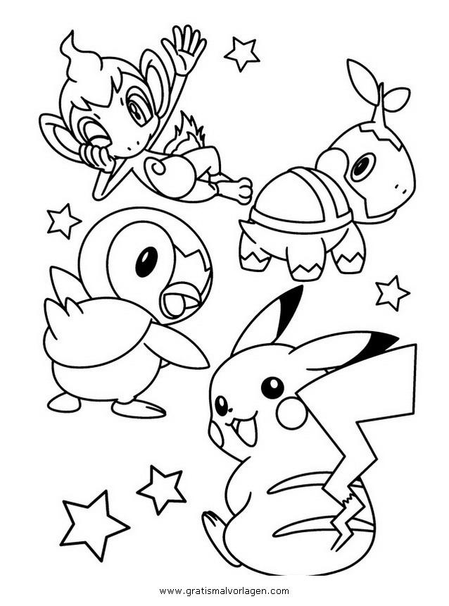 Pokemon Lugia2 Gratis Malvorlage In Comic: Pokemon-turtwig-chelast 5 Gratis Malvorlage In Comic