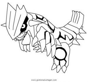 Pokemon Groudon 3 Gratis Malvorlage In Comic Trickfilmfiguren