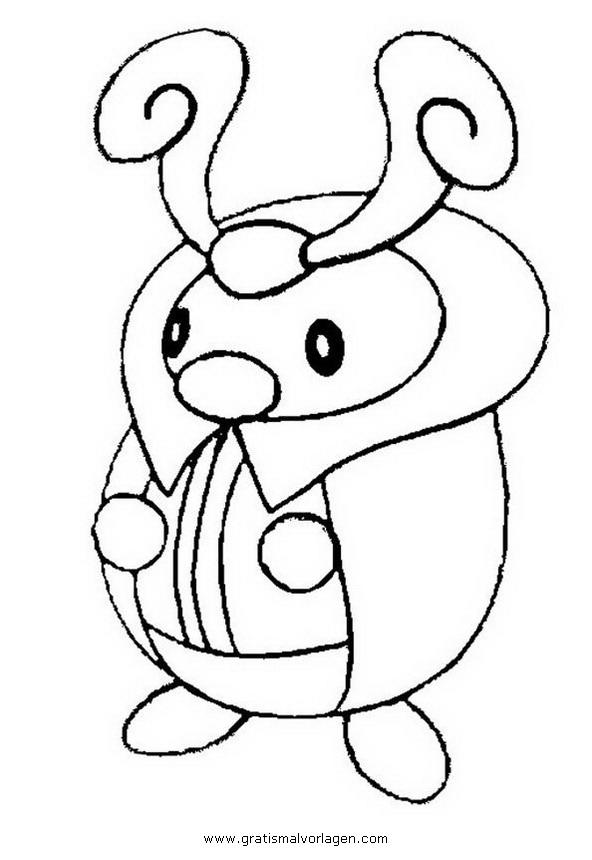 Pokemon Lugia2 Gratis Malvorlage In Comic: Pokemon Zirpurze-kricketot Gratis Malvorlage In Comic