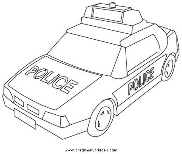 polizeiauto3 gratis malvorlage in autos transportmittel