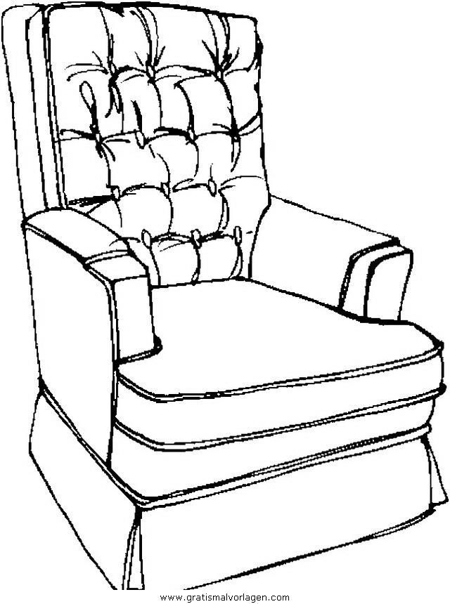 sessel 7 gratis malvorlage in diverse malvorlagen möbel