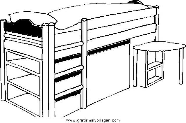 hochbett gratis malvorlage in diverse malvorlagen m bel ausmalen. Black Bedroom Furniture Sets. Home Design Ideas