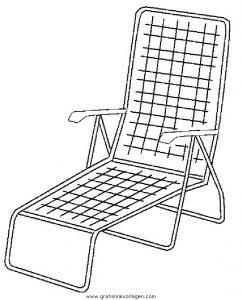 Liegestuhl malvorlage  Liegestuhl gratis Malvorlage in Diverse Malvorlagen, Möbel - ausmalen
