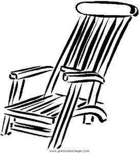 Liegestuhl malvorlage  Liegestuhl 2 gratis Malvorlage in Diverse Malvorlagen, Möbel - ausmalen