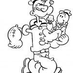Popeye Malvorlagen Zum Ausmalen Fur Kinder