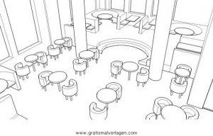 Malvorlage Beliebt11 restaurant-2