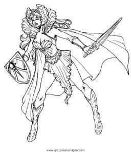 Malvorlage He-Man she-ra shera 01