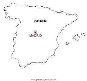 Spanien Gratis Malvorlage In Geografie Landkarten Ausmalen