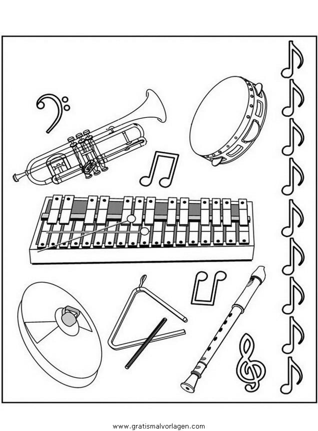musikinstrumente gratis malvorlage in diverse malvorlagen