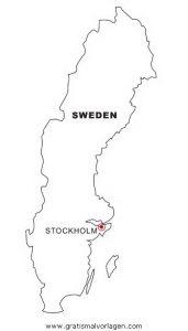 Schweden Gratis Malvorlage In Geografie Landkarten Ausmalen