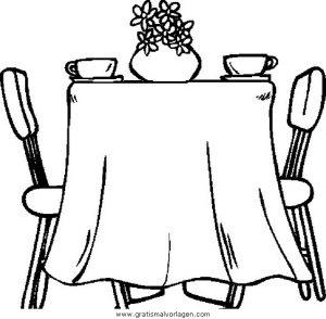 Gedeckter Tisch Gratis Malvorlage In Diverse Malvorlagen Möbel