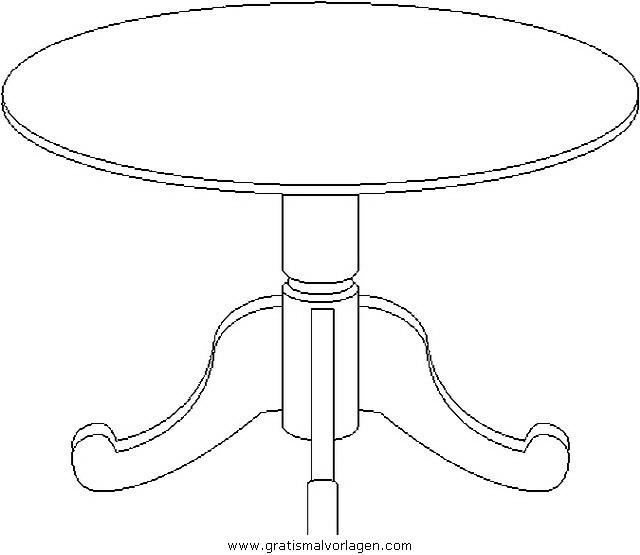 Tisch 4 gratis Malvorlage in Diverse Malvorlagen, Möbel ...