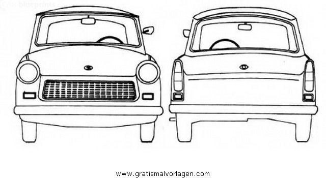 Trabant P601 Gratis Malvorlage In Autos Transportmittel Ausmalen