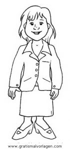 Malvorlage Kleidung Mantel mit Rock